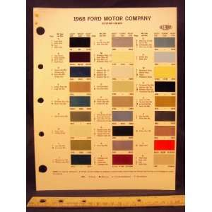 FORD MOTOR COMPANY Paint Colors Chip Page Ford Motor Company Books