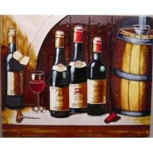 Winery Wine Bottles & Glasses & Barrels (AD 0539)