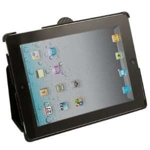 Black Matts Pattern PU Leather Case Cover For iPad 2