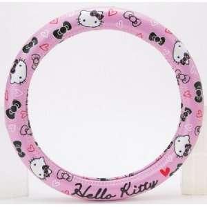 Hello Kitty Steering Wheel Cover  Pink & Black Camera