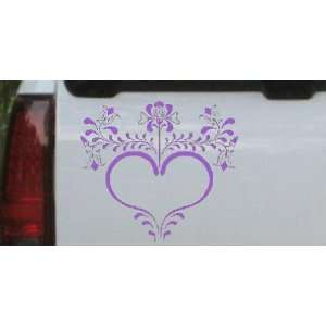 Heart with Flowers And Vines Car Window Wall Laptop Decal