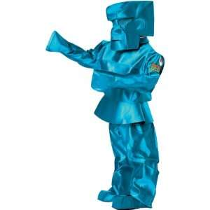 Rockem Sockem Robots   Blue Bomber Child Costume / Blue   Size 41100