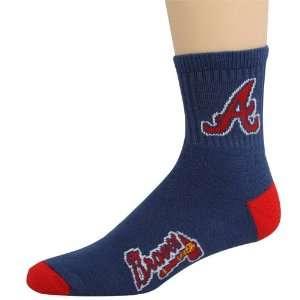 MLB Atlanta Braves Navy Blue Team Color Block Socks
