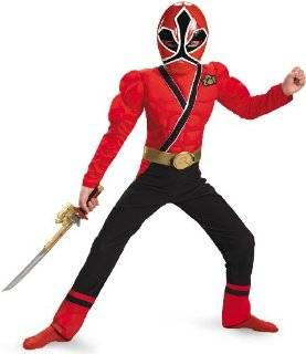 Red Ranger Samurai Classic Muscle Costume   Small (4 6
