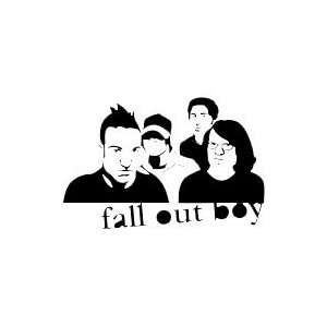FALL OUT BOY BAND WHITE LOGO DECAL STICKER Everything