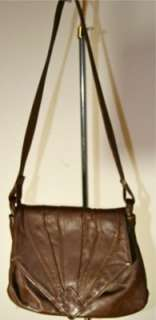 Branson Bennett Vintage Brown Leather Purse Tote Handbag Bag Messenger