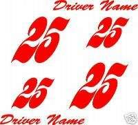 Go Kart numbers, graphics, decals, & stickers Item numb