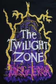 Vtg Twilight Zone the Tower of Terror MGM Studios T Shirt Large L cbs