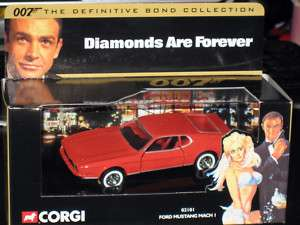 Corgi Ford Mustang March I James Bond 007 Movie MIB