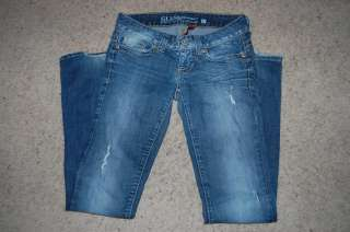 WOMENS GUESS DAREDEVIL LOW RISE BOOT CUT JEANS    SIZE 27