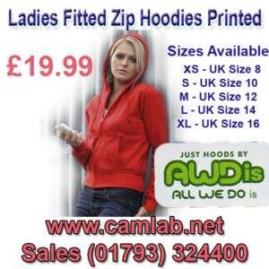 Personalised Ladies Zip up Hoodie Hoody Hoodies Hen