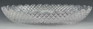 Lovely Antique ABP Cut Glass Oblong Dish Scalloped Edge