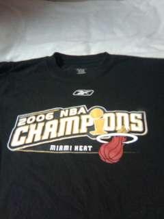 MIAMI HEAT 2006 NBA CHAMPIONS SHIRT ADULT LARGE REEBOK IN GOOD