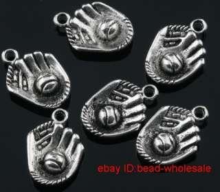 Free ship 6pcs tibetan silver hand charm pendants