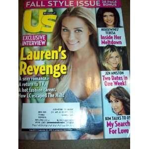 Fall Style Issue Laurens Revenge Jen Aniston Kim Kardashian: Books