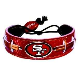 San Francisco 49ers Team Color Football Bracelet Sports