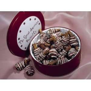 Milk Chocolate Caramel Crunch Pretzel Gems  16 oz. Tin: