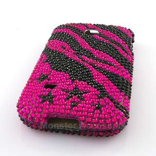Pink Zebra Star Bling Hard Cover Case Huawei Ascend 2