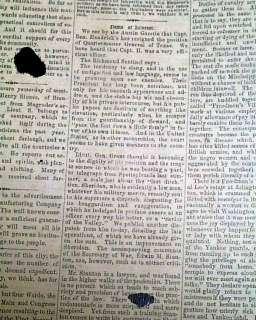Rare CONFEDERATE Houston TX Abraham Lincoln Election Civil War 1864