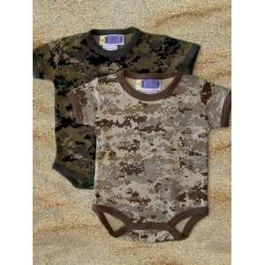 5502 USMC Marine Corps 2pk Desert Camo and Woodland Camo Outfits Baby