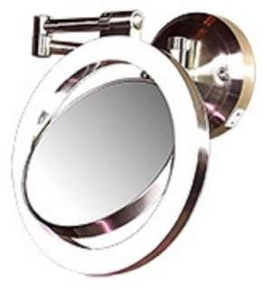 Zadro1X/10X Lighted Pivoting Wall Mount Vanity Makeup Mirror