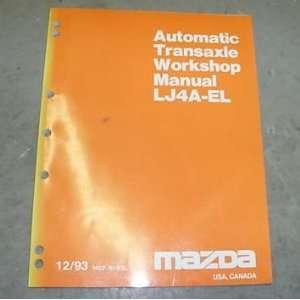 1993 Mazda LJ4A EL Transmission Service Repair Manual