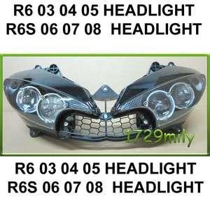 Yamaha YZF R6 2003 2004 2005 HEADLIGHT HEAD LIGHT Head lamp R6s 06 07