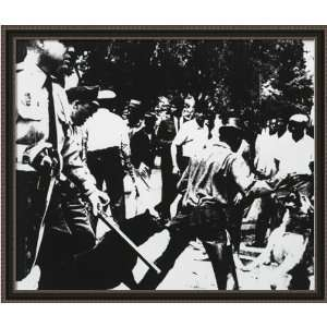 15.5x18 Race Riot, c. 1963 by Andy Warhol Framed Art