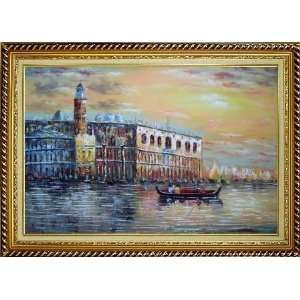 Italian Venice Scene: Serenity Bay Oil Painting, with