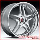 Roderick RW 1 19 Black w/ Chrome Lip Wheels Rims Set 5x120 Stagger