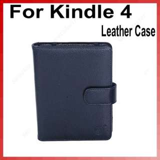 Black PU Leather Case Cover Pouch Jacket For Ebook Reader