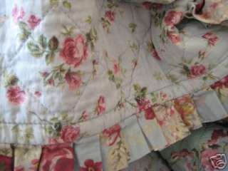 Perfect Pink Roses Shabby Country Cottage Chic Patchwork Quilt Throw