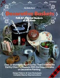 Craft Books #1757 Decorative Baskets Tole Painting