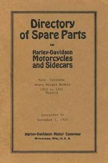Directory of Spare Parts for Harley Davidson Motorcycle 9781438244143