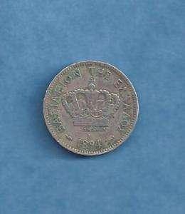 GREECE SILVER COIN 20 LEPTA 1894