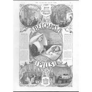 Advert Beecham Pills In Convent Hospital 1887