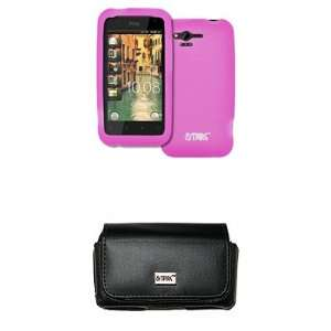 EMPIRE Verizon HTC Rhyme Black Leather Case Pouch with