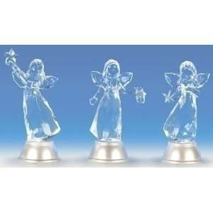 Pack of 6 Icy Crystal LED Lighted Angel Christmas Figures