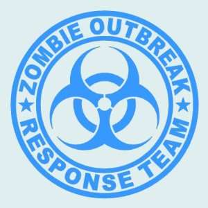 Zombie Outbreak Response Team LIGHT BLUE 5 Die Cut Vinyl