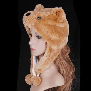 Lovely Cartoon hat Soft Cap Bear Cream Coloured H2736C