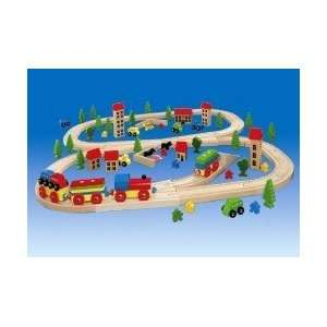 Pieces Super Train Wooden Toy Train Set Ages 3 & up. Toys & Games