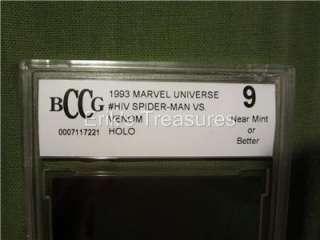 Marvel Universe Spider Man vs Venom H IV Hologram Card BCCG Graded 9