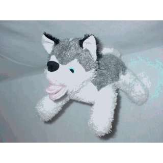 Paw Paw Pet Products ML0027 Med Lg Grey Wolf Plush Dog Toy