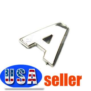 3D English Alphabet A Car Decorative Script Emblem Badge Sticker