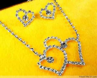 Lots Fashion 12Sets Crystal Rhinestone Necklaces&Earrings #32