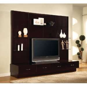 Traditional entertainment center wall unit 5pc elegant for Elegant wall units