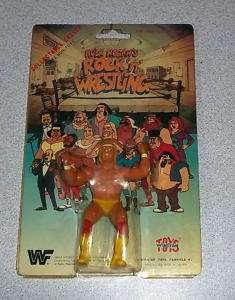 WWF Rock N Wrestling Eraser Figure Hulk Hogan MOC VARIATION Winston