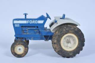 Ford Tractor 8600 Harvester Tractor Die Cast Toy Truck Vintage Metal