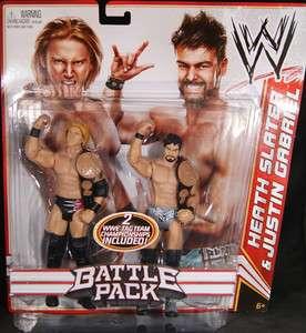 SLATER & JUSTIN GABRIEL   WWE 2 PACKS 14 MATTEL TOY WRESTLING FIGURES