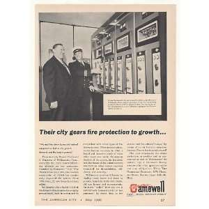 1960 Willimantic CT Gamewell Fire Alarm System Print Ad